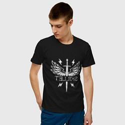 Мужская хлопковая футболка с принтом SKILLET, цвет: черный, артикул: 10276907900001 — фото 2