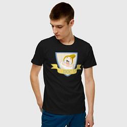 Футболка хлопковая мужская Умник цвета черный — фото 2