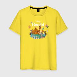 Футболка хлопковая мужская Бэмби цвета желтый — фото 1