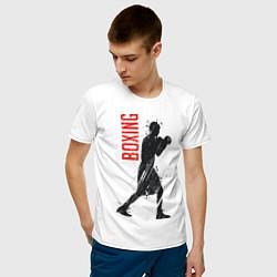 Футболка хлопковая мужская Боксер цвета белый — фото 2