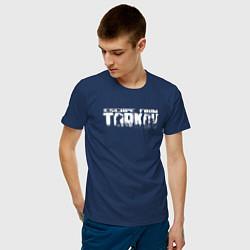 Футболка хлопковая мужская Escape from Tarkov Bear спина Z цвета тёмно-синий — фото 2