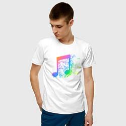 Футболка хлопковая мужская I LOVE MUSIC DJ Z цвета белый — фото 2