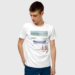 Футболка хлопковая мужская Волга цвета белый — фото 2