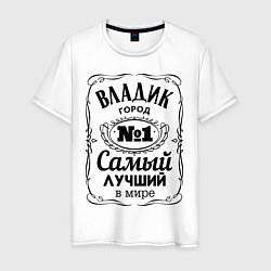 Футболка хлопковая мужская Владивосток лучший город цвета белый — фото 1