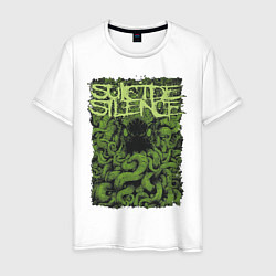 Футболка хлопковая мужская Suicide Silence цвета белый — фото 1