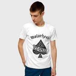 Футболка хлопковая мужская Motorhead: Ace of spades цвета белый — фото 2