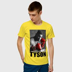 Футболка хлопковая мужская Mike Tyson цвета желтый — фото 2