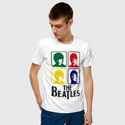Футболка хлопковая мужская The Beatles: Colors цвета белый — фото 2