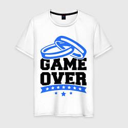 Футболка хлопковая мужская Game over Свадьба цвета белый — фото 1