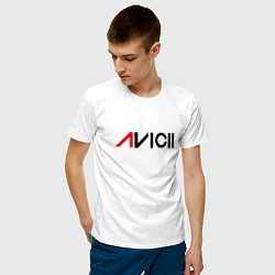 Футболка хлопковая мужская Avicii цвета белый — фото 2