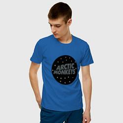 Футболка хлопковая мужская Arctic Monkeys: Black цвета синий — фото 2