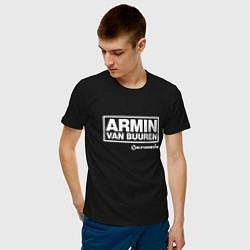Футболка хлопковая мужская Armin van Buuren цвета черный — фото 2