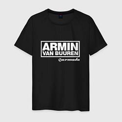 Футболка хлопковая мужская Armin van Buuren цвета черный — фото 1