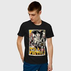 Футболка хлопковая мужская Pulp Fiction Stories цвета черный — фото 2