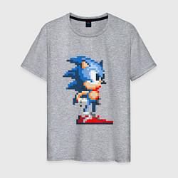 Футболка хлопковая мужская Sonic цвета меланж — фото 1