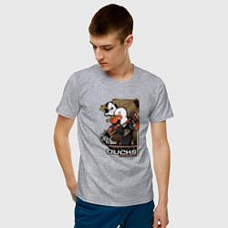 Футболка хлопковая мужская Anaheim Ducks цвета меланж — фото 2