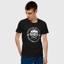 Футболка хлопковая мужская Правописание или смерть! цвета черный — фото 2
