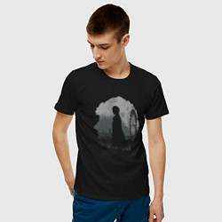 Футболка хлопковая мужская Sherlock World цвета черный — фото 2