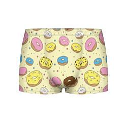 Трусы-боксеры мужские Сладкие пончики цвета 3D — фото 1