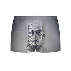 Трусы-боксеры мужские Fuck Society цвета 3D — фото 1