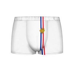 Трусы-боксеры мужские Франция: лента с гербом цвета 3D-принт — фото 1