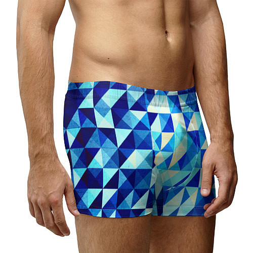 Мужские трусы Синяя геометрия / 3D – фото 3