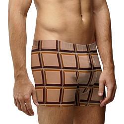 Трусы-боксеры мужские Шоколад цвета 3D — фото 2