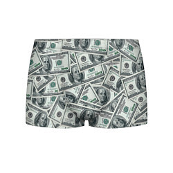 Трусы-боксеры мужские Банкноты цвета 3D — фото 1