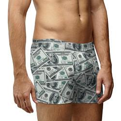 Трусы-боксеры мужские Банкноты цвета 3D-принт — фото 2