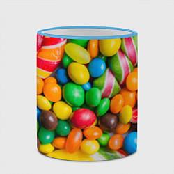 Кружка 3D Сладкие конфетки цвета 3D-небесно-голубой кант — фото 2