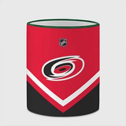 Кружка 3D NHL: Carolina Hurricanes цвета 3D-зеленый кант — фото 2