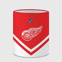 Кружка 3D NHL: Detroit Red Wings цвета 3D-красный кант — фото 2
