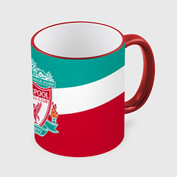 Кружка 3D Liverpool: You'll never walk alone цвета 3D-красный кант — фото 1