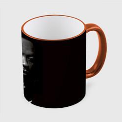 Кружка 3D Dr. Dre: 100% Beats цвета 3D-оранжевый кант — фото 1