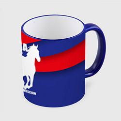 Кружка 3D CSKA est. 1911 цвета 3D-синий кант — фото 1