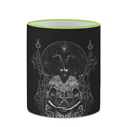 Кружка 3D Wolves in the Throne Room цвета 3D-светло-зеленый кант — фото 2