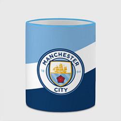 Кружка 3D FC Manchester City: Colors цвета 3D-небесно-голубой кант — фото 2