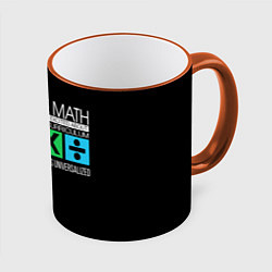 Кружка 3D Ed Sheeran: I hate math цвета 3D-оранжевый кант — фото 1