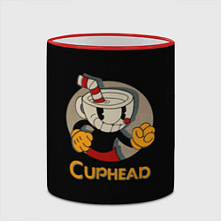 Кружка 3D Cuphead: Mugman цвета 3D-красный кант — фото 2
