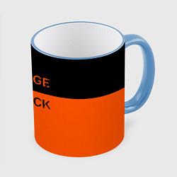 Кружка 3D Orange Is the New Black цвета 3D-небесно-голубой кант — фото 1