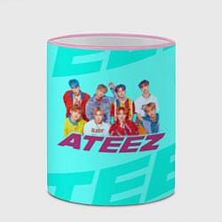 Кружка 3D Ateez цвета 3D-розовый кант — фото 2