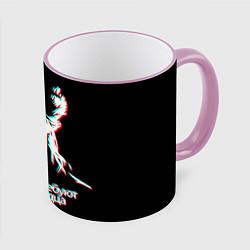 Кружка 3D Виктор Цой цвета 3D-розовый кант — фото 1