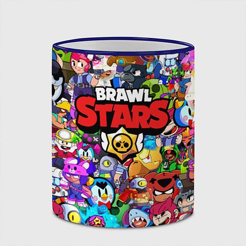 Кружка цветная BRAWL STARS / 3D-Синий кант – фото 2