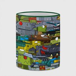 Кружка 3D Геранд шоп-Мир танков цвета 3D-зеленый кант — фото 2