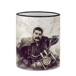 Кружка 3D Сталин байкер цвета 3D-черный кант — фото 2