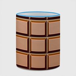 Кружка 3D Шоколад цвета 3D-небесно-голубой кант — фото 2