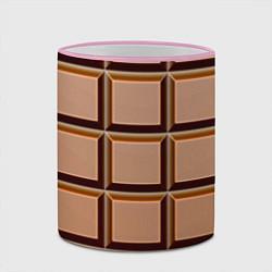Кружка 3D Шоколад цвета 3D-розовый кант — фото 2