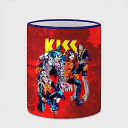 Кружка 3D KISS: Hot Blood цвета 3D-синий кант — фото 2