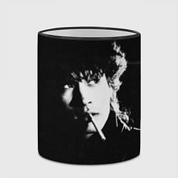 Кружка 3D Цой с сигаретой цвета 3D-черный кант — фото 2