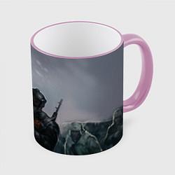 Кружка 3D Солдаты цвета 3D-розовый кант — фото 1